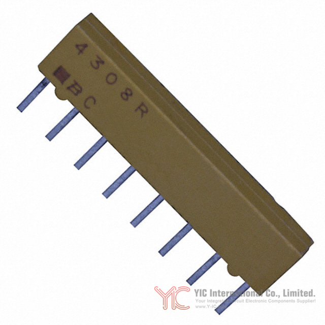 Pack of 100 4608X-102-822LF RES ARRAY 4 RES 8.2K OHM 8SIP